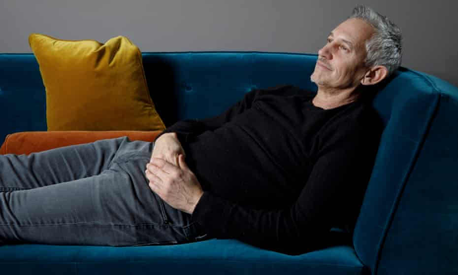 Gary Lineker, pictured at his house in Barnes, says: 'Pitches are the one thing I'm envious about now.'