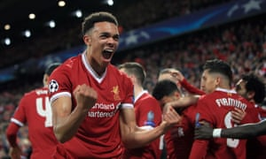 Rampaging liverpool answer klopps call for bravery to eviscerate trent alexander arnolds emphatic riposte to being targeted as a weak link by manchester stopboris Gallery