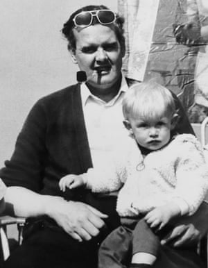 Musician Guy Garvey as a baby with his father, Don, in 1976