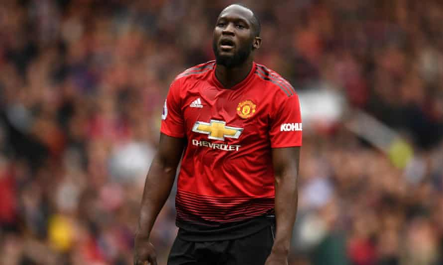 Romelu Lukaku pictured during Sunday's match against Chelsea.