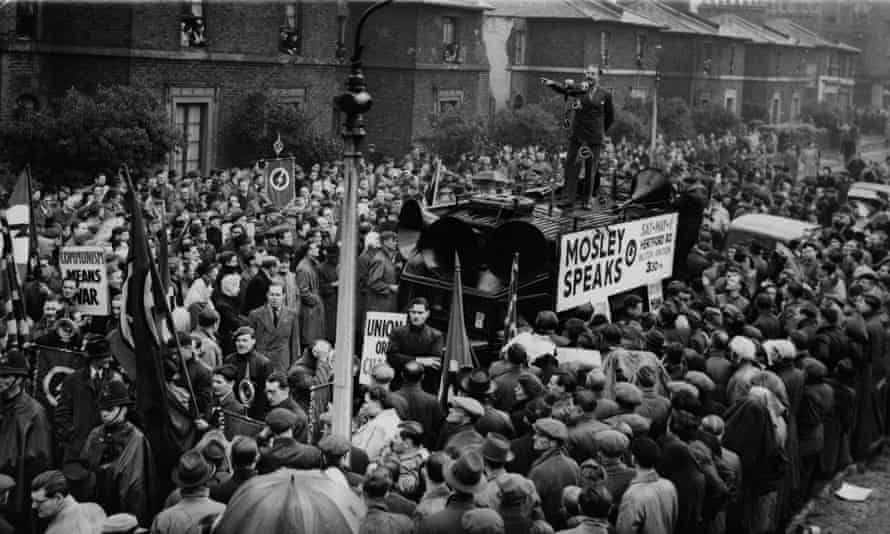 Stirring up resentment … Oswald Mosley in Dalston, east London.