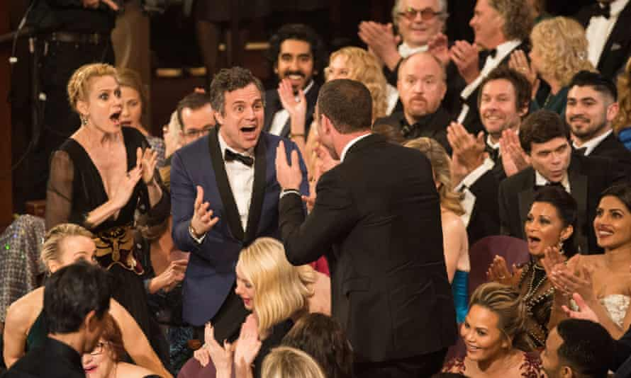Sunrise Coigney and Mark Ruffalo at Oscars.