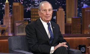 Michael Bloomberg during an interview on the Tonight Show on 28 January.