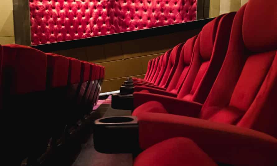 Empty red cinema seats