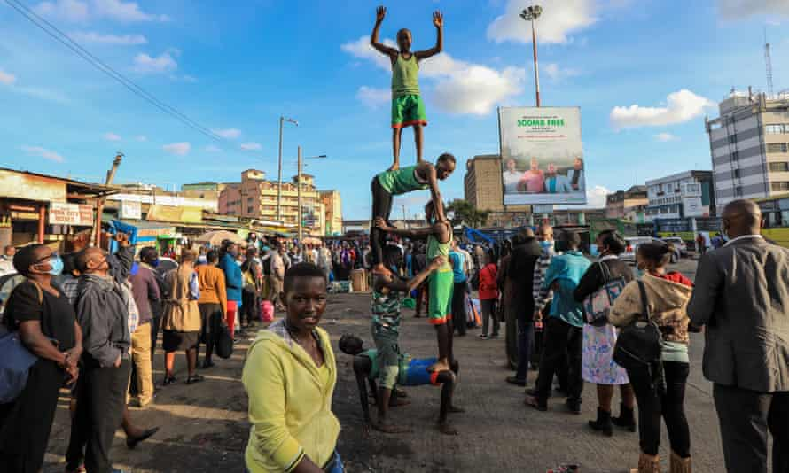 A Kenyan group of street kids