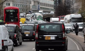 Traffic in central London
