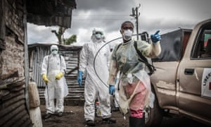Liberian Red Cross burial team in Monrovia Ebola crisis.