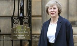 Theresa May in Edinburgh last Friday.