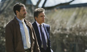 Adam Sandler and Ben Stiller in The Meyerowitz Stories.