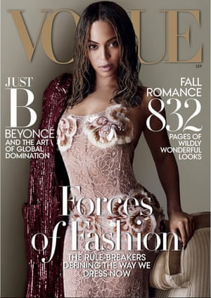 Beyoncé on the September cover of US Vogue