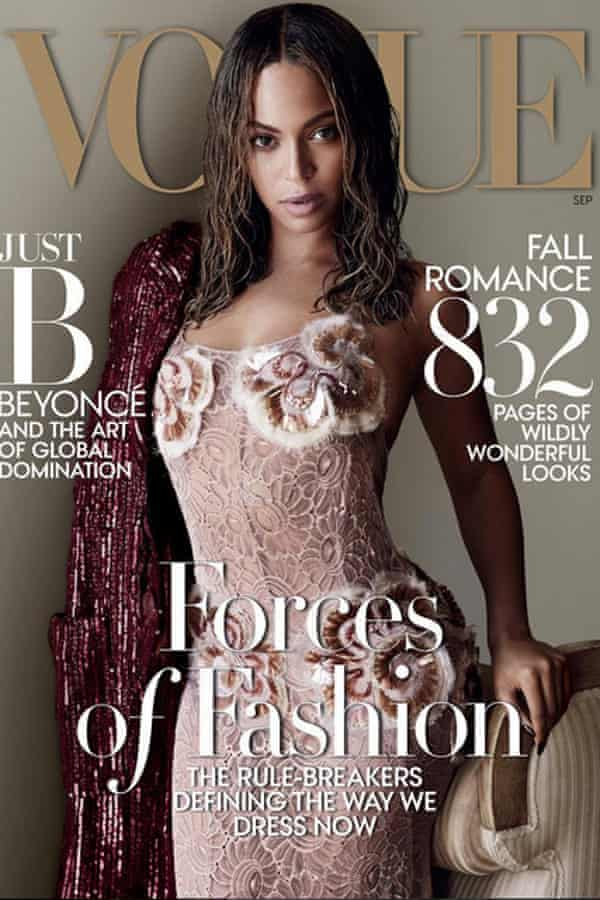 Beyonce on the cover of US Vogue