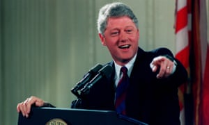 "Bill Clinton in 1998, 'when Toni Morrison announced he was America's ""first black president""'."