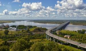 Amur bridge, Khabarovsk.