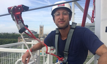 writer Will Coldwell at Zip World Southbank