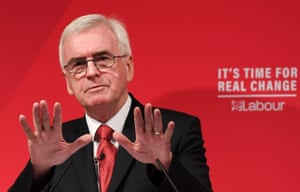 Labour Party's shadow chancellor John McDonnell said the UK was 'dramatically falling behind' other countries' broadband quality.