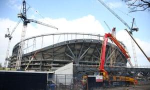 Tottenham's new stadium will be ready early next season.