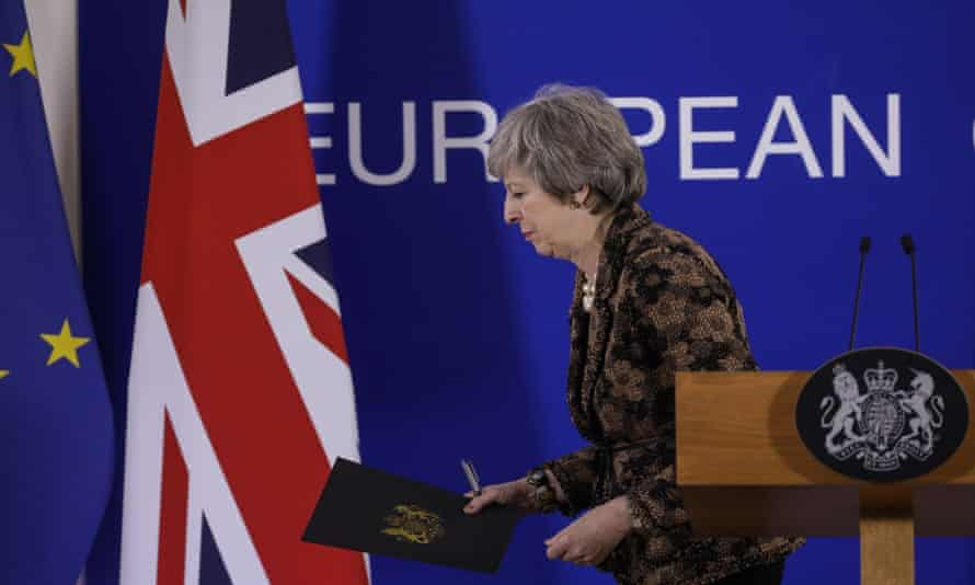 Theresa May at European Council summit in Brussels