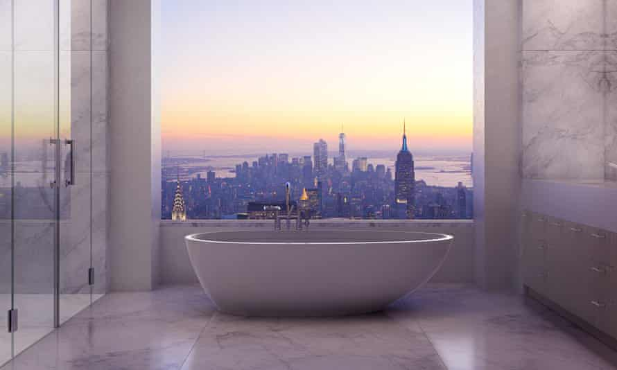 Master bathroom in an apartment on Park Avenue, New York.