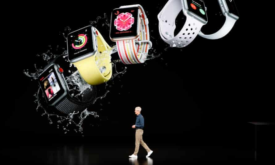 Tim Cook, Apple's CEO, at the product launch in Cupertino.