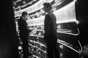 David Schwimmer waiting in the wings