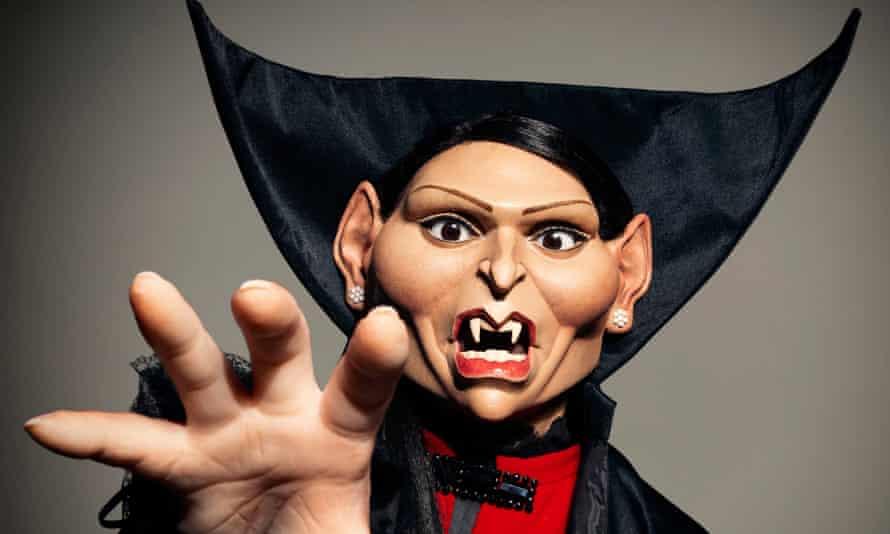 Priti Patel Spitting Image puppet