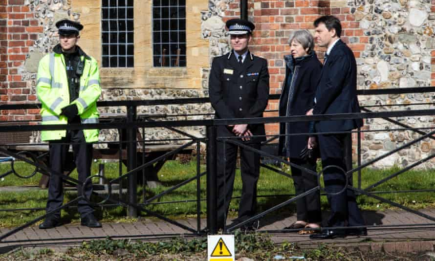 Glen with Theresa May during her visit to Salisbury.
