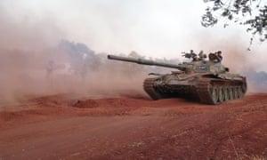 Syrian rebels  in  Idlib province