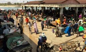 The fish market in Dar es Salaam.