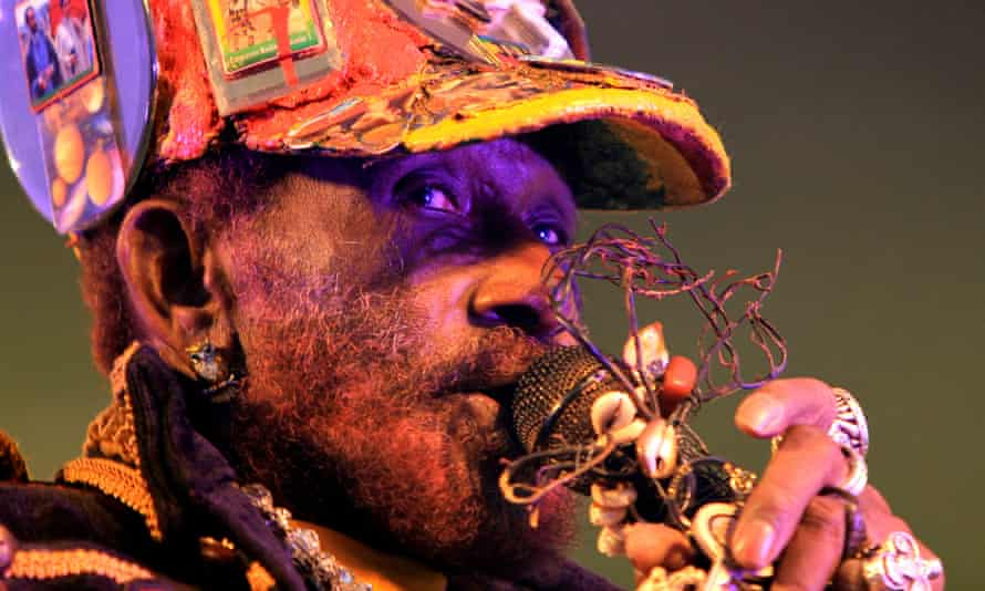 Lee 'Scratch' Perry performing at the Beat-Herder festival in 2012.