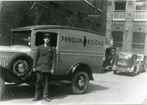 An early Penguin delivery van, London.