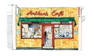 Arthur's cafe in Dalston, London.
