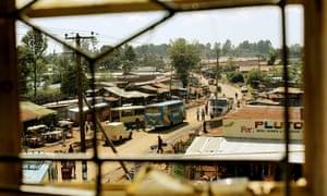 A street in Eldoret, Kenya.