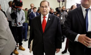 Jerrold Nadler arrives for a private deposition by former FBI director James Comey on Capitol Hill on Friday.