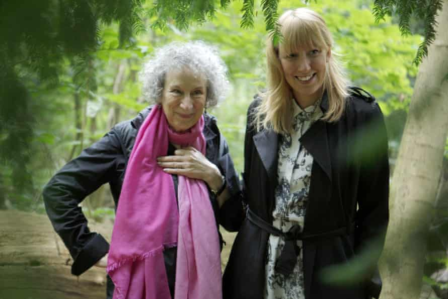 Words worth waiting for … novelist Margaret Atwood with Paterson at the inauguration of the Future Library forest in Norway.