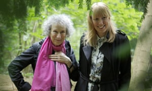 Margaret Atwood and Katie Paterson in Nordmarka forest, Oslo, in 2015 when Atwood delivered her manuscript.
