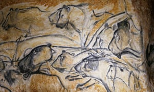 Animal figures from the replica Chauvet cave in southern France, opened in 2015 to protect the originals from damage.