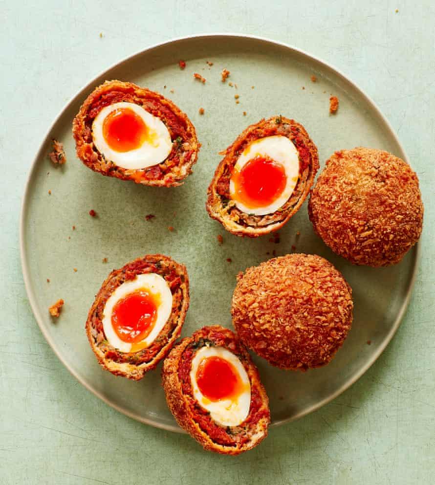 Thomasina Miers' chorizo scotch eggs.