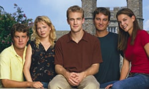 Dawson's Creek … from left, Joshua Jackson, Michelle Williams, James Van Der Beek, Kerr Smith and Katie Holmes.