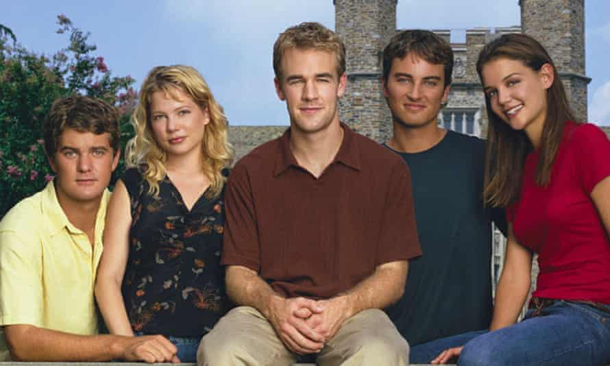 Dawson's Creek … from left, Joshua Jackson, Michelle Williams, James Van Der Beek, Kerr Smith and Katie Holmes.