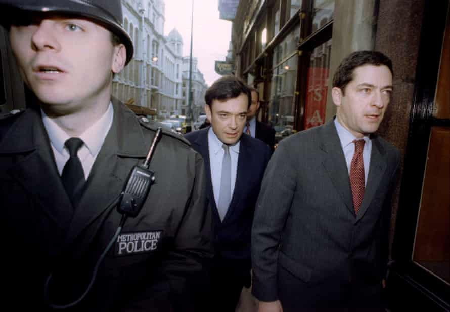 Ian (left) and Kevin Maxwell arrive at court during their 1996 fraud trial. They were acquitted