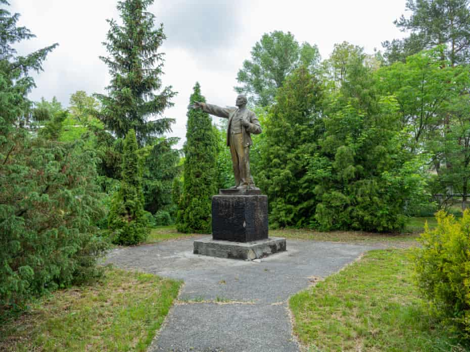 Statues of Lenin have been removed from cities in Ukraine in recent years, but within the zone of alienation things must remain untouched.