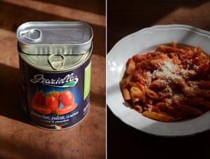 Storecupboard staple: Rachel Roddy's tomato and anchovy pasta sauce.