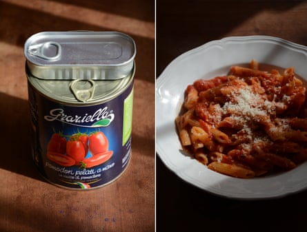 Storecupboard staple: Rachel Roddy's tomato and anchovy pasta sauce.