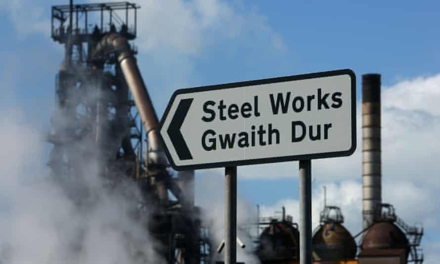 Tata Steel plant at Port Talbot, south Wales