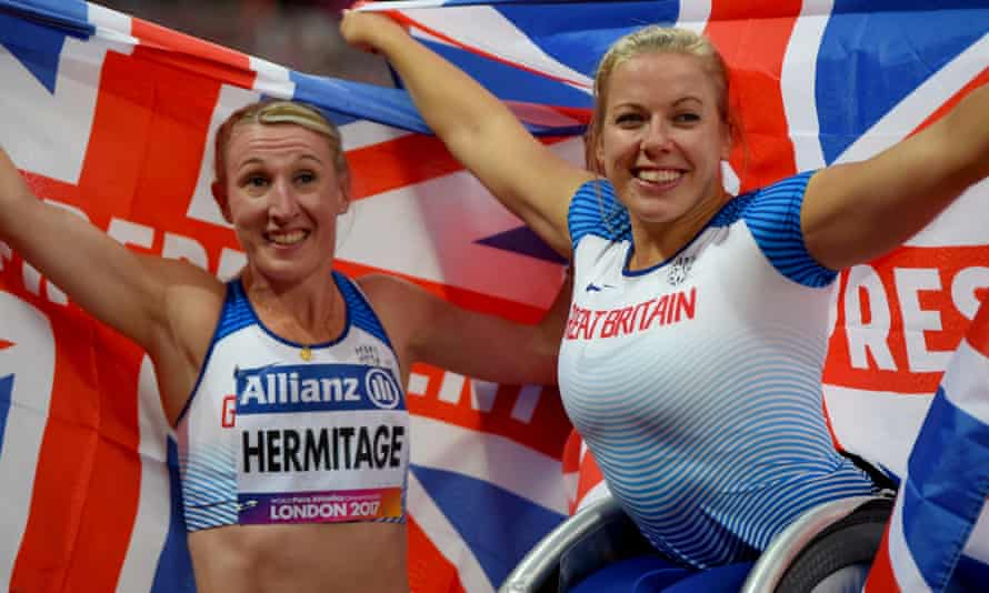Gold medallists Georgina Hermitage and Hannah Cockroft believe London is the ideal host city