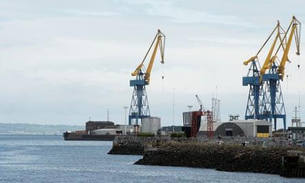 Cranes at the Port of Belfast