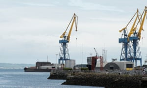 The port of Belfast.