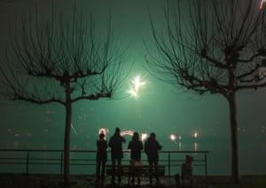 New Year's Eve celebrations in Frankfurt, Germany.