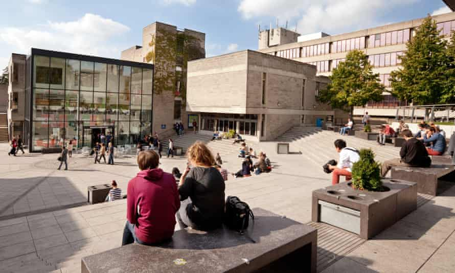University students on campus at the University of East Anglia in Norwich