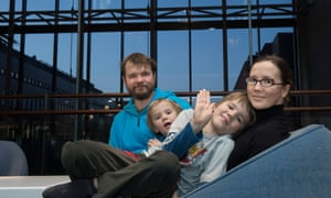 Like many families in Finland, Petri and Kirsi Louhelainen balance raising their two children.